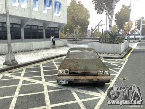 Dodge Monaco 1974 Rusty para GTA 4 vista hacia atrás