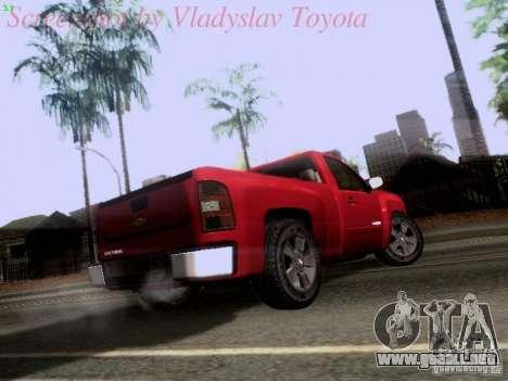 Chevrolet Cheyenne Single Cab para la visión correcta GTA San Andreas