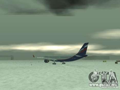 El Airbus A330-300 Aeroflot para la visión correcta GTA San Andreas