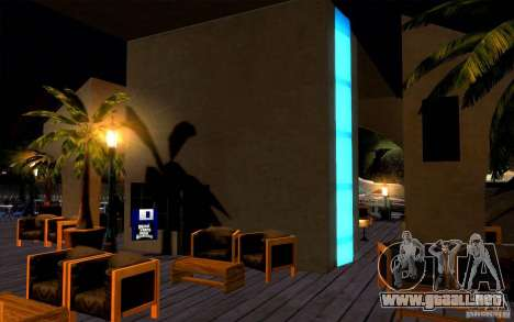 Club de playa para GTA San Andreas quinta pantalla
