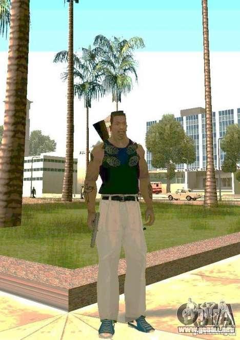 Armas en el cuerpo para GTA San Andreas segunda pantalla