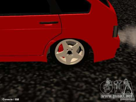 VAZ 2109 Opera Turbo para GTA San Andreas vista hacia atrás