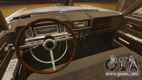 Lincoln Continental 1962 para GTA 4 vista hacia atrás