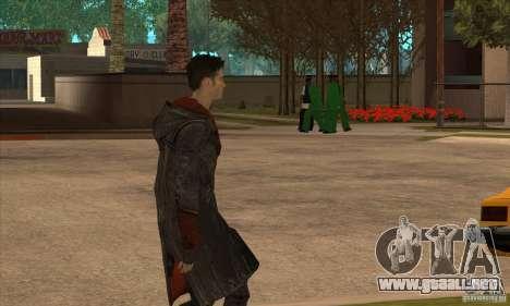 Dante de Devil May Cry para GTA San Andreas tercera pantalla