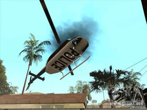 El guión de CLEO: ametralladora en GTA San Andre para GTA San Andreas sucesivamente de pantalla