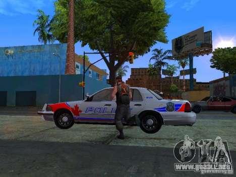 Ford Crown Victoria Police Patrol para GTA San Andreas vista posterior izquierda
