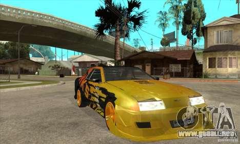 Tuneable Elegy v0.1 para GTA San Andreas vista hacia atrás