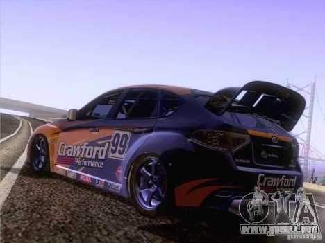 Subaru Impreza WRX STI N14 Gymkhana para la visión correcta GTA San Andreas