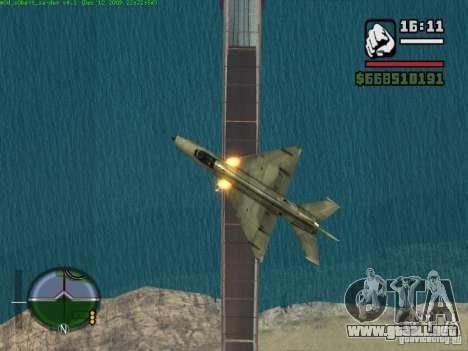 MIG 21 nuevo para GTA San Andreas left