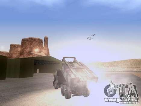 M142 HIMARS Artillery para GTA San Andreas vista hacia atrás