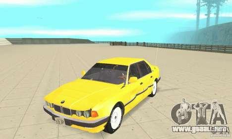 BMW 750I E32 para visión interna GTA San Andreas
