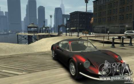 Ferrari Dino 1969 para GTA 4 vista hacia atrás
