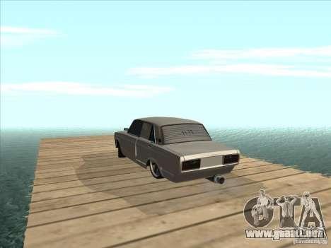 VAZ 2105 luz Tuning para GTA San Andreas vista hacia atrás