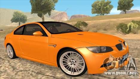 BMW M3 E92 para vista inferior GTA San Andreas