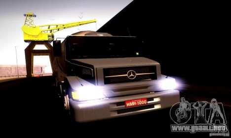 Mercedes-Benz L1620 Tanque para GTA San Andreas vista posterior izquierda