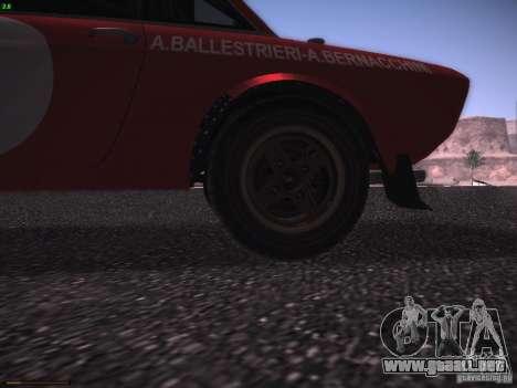 Lancia Fulvia Rally Marlboro para visión interna GTA San Andreas