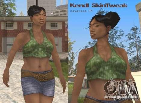 Caracteres Reteksturizaciâ para GTA San Andreas quinta pantalla