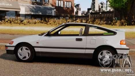 Honda CRX 1991 para GTA 4 left