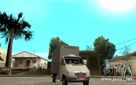 Mercedes-Benz Sprinter Truck para GTA San Andreas vista hacia atrás