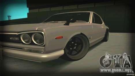 Nissan Skyline 2000GT-R JDM Style para GTA San Andreas left