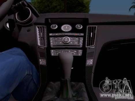 Cadillac CTS-V 2009 para vista inferior GTA San Andreas