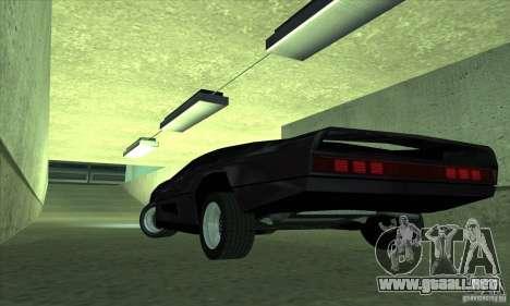 Dodge M4S Turbo Interceptor Wraith 1984 para GTA San Andreas vista posterior izquierda