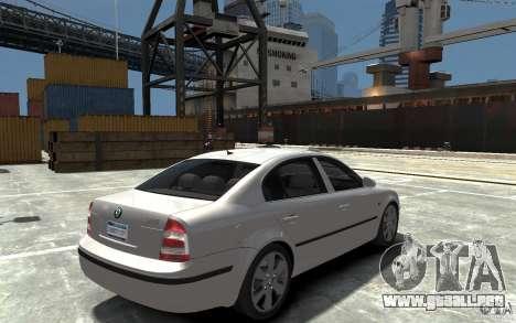 Skoda SuperB para GTA 4 visión correcta