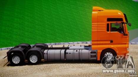 MAN TGX V8 6X4 para GTA 4 vista interior