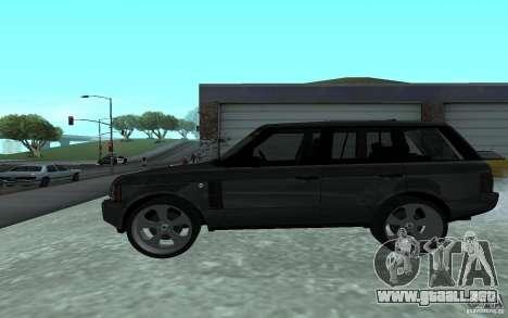 Land Rover Supercharged para GTA San Andreas left