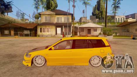 Mitsubishi Lancer Evolution IX Wagon MR Drift para GTA San Andreas left