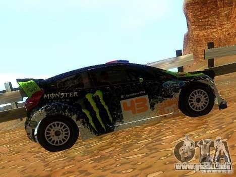Ford Fiesta RS WRC 2012 para GTA San Andreas left