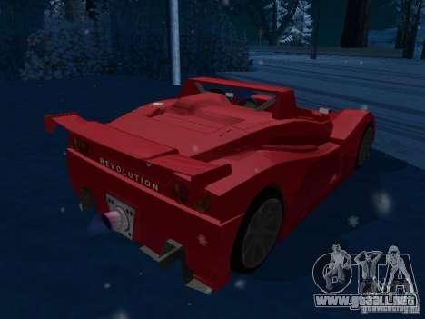 Lada Revolution para GTA San Andreas vista posterior izquierda