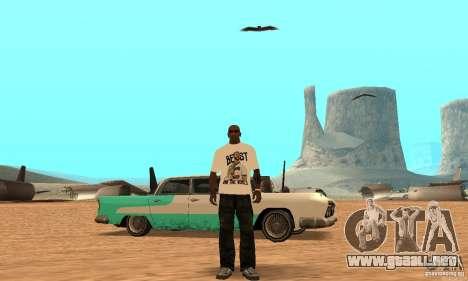 WWE CM Punk t-shirt para GTA San Andreas tercera pantalla