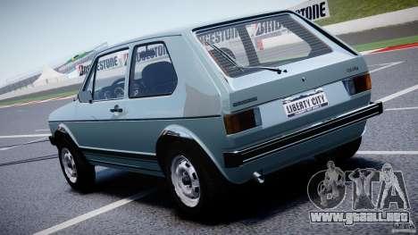 Volkswagen Golf Mk1 para GTA 4 Vista posterior izquierda