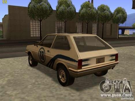 Ford Fiesta 1981 para GTA San Andreas left