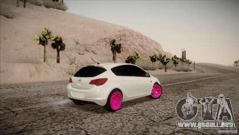 Opel Astra 2010 para GTA San Andreas vista posterior izquierda