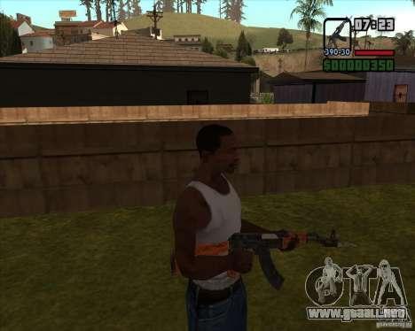 AK-47 con bayoneta para GTA San Andreas tercera pantalla