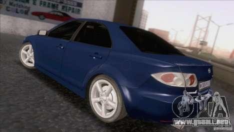 Mazda 6 2006 para GTA San Andreas vista posterior izquierda
