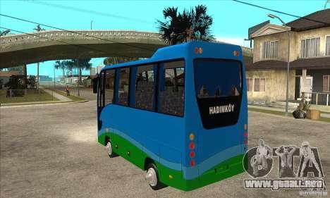 Iveco Eurocity para GTA San Andreas vista posterior izquierda