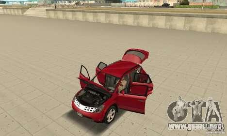Nissan Murano 2004 para GTA San Andreas vista hacia atrás