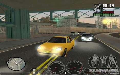 VAZ Lada Priora Taxi para GTA San Andreas left