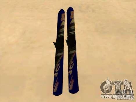 Esquí-esquí para GTA San Andreas vista posterior izquierda