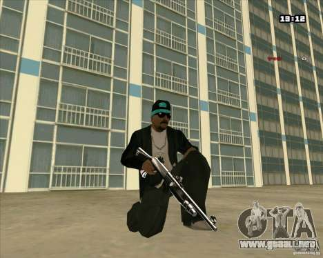 Chrome Weapon Pack para GTA San Andreas tercera pantalla