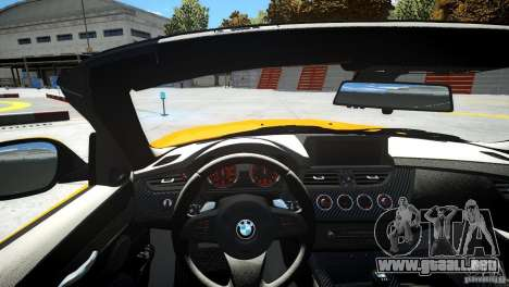 BMW Z4 sDrive 28is para GTA 4 vista interior