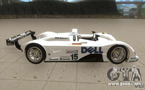 BMW V12 LeMans - Stock para visión interna GTA San Andreas