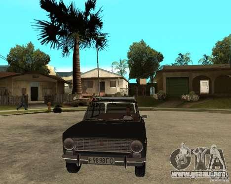 2102 Vaz para GTA San Andreas vista hacia atrás
