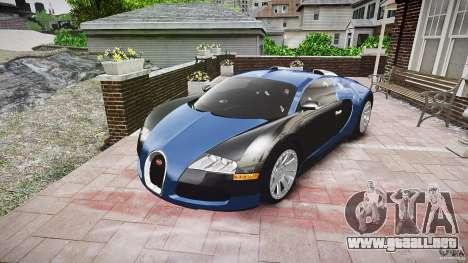 Bugatti Veyron 16.4 v3.0 2005 [EPM] Strasbourg para GTA 4 vista hacia atrás