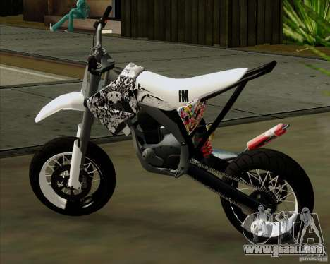 Honda 50 Tuned Stunt para GTA San Andreas left