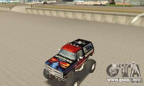 Chevrolet Blazer K5 Monster Skin 5 para GTA San Andreas left