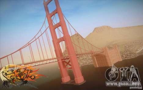 New Golden Gate bridge SF v1.0 para GTA San Andreas segunda pantalla